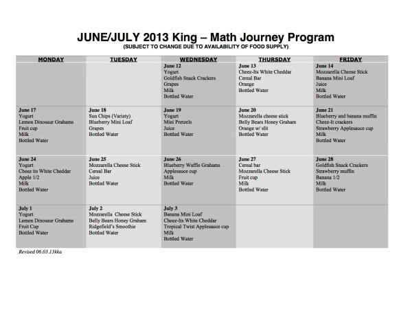 King Math Journey 06.03.13