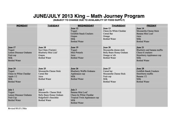 King Math Journey 06.03.13